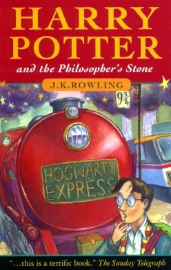 Cover of the Novel, Harry Potter, and the Philosopher's stone