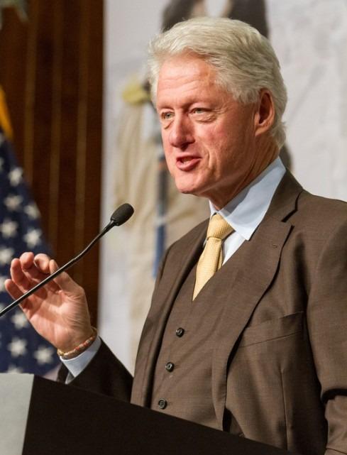 Newly sworn in President of America, Bill Clinton