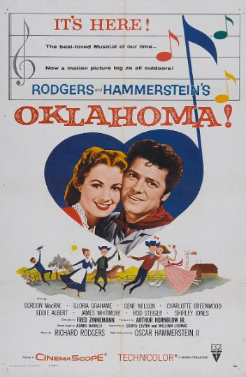 Poster for the American theatrical run of the 1955 filmOklahoma!