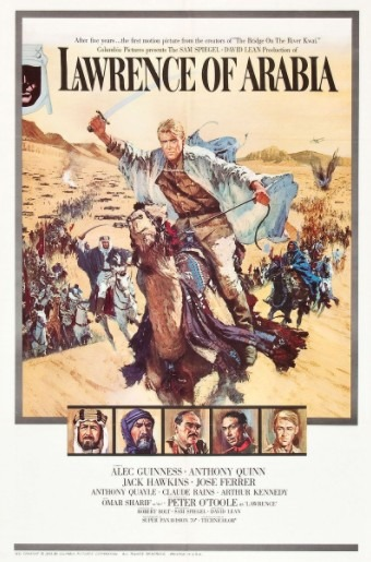 Poster of the most famous film of 1962, Lawrence of Arabia