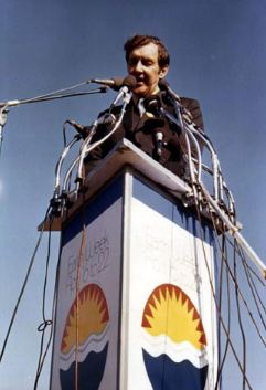 Senator Edmund Muskie speaking at the First Earth Day in 1970