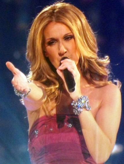 Singer Celine Dion at Taking Chances Tour Concert in 2008