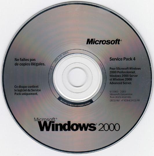 Windows 2000 installation disc