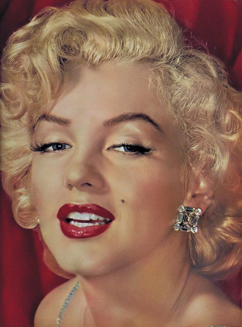 A portrait of Marilyn Monroe